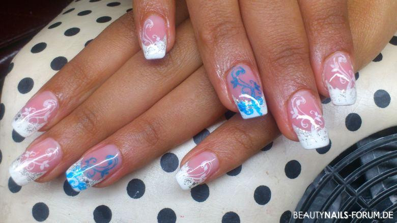 Nageldesign Blau Pink  50 Blaue Nägel mit tollem Nageldesign blaue Ideen