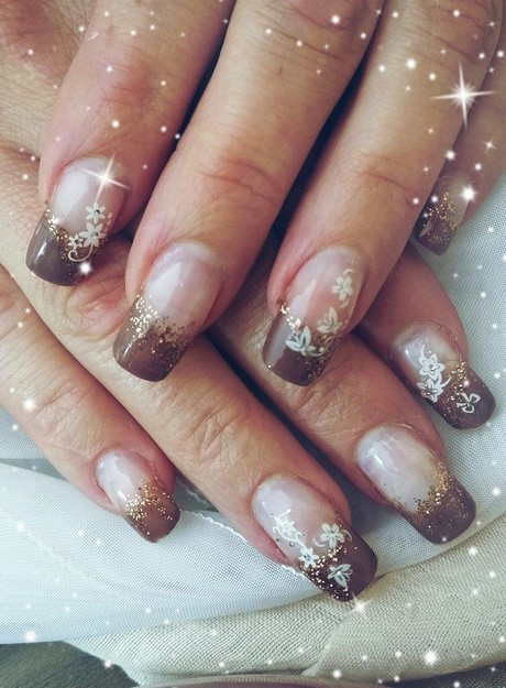 Nageldesign Braun Beige  Nageldesign 2017 trends french