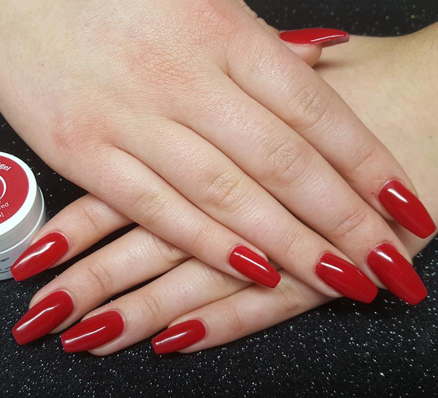 Nageldesign Dunkelrot  Nageldesign rot – Wendl Alexandra – Nails – Lashes