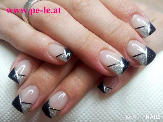 Nageldesign Forum  black & silber Nageldesign