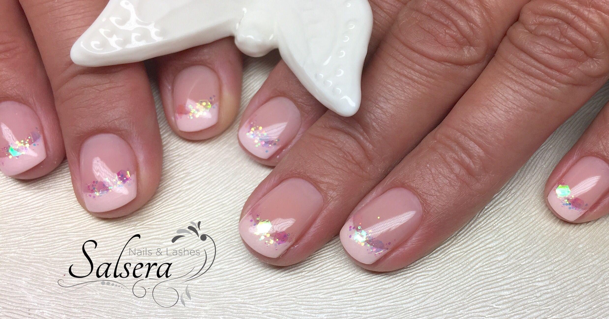 Nageldesign French Rosa  Nägel Nails Nageldesign Schöne Nägel Shortnails Rosa