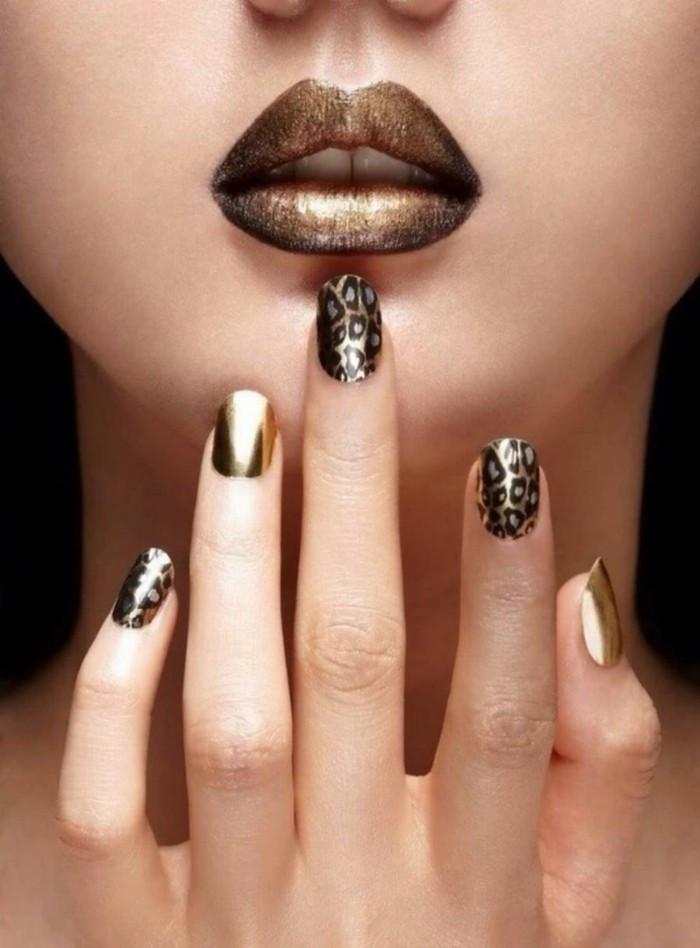 Nageldesign Gold  Nageldesign Sommer 77 frische Fingernägel Ideen für