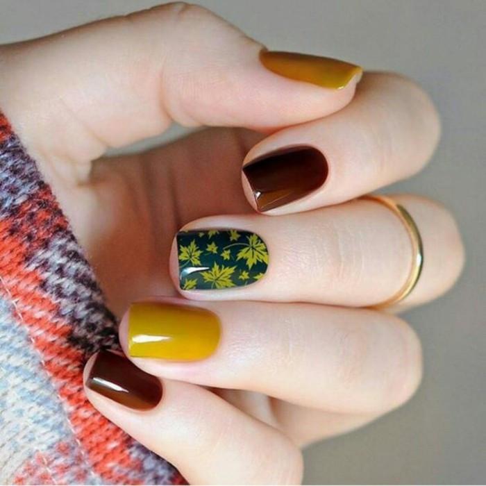 Nageldesign Herbstfarben  Fingernägel Design Nageldesign Herbst in 33 Beispielen