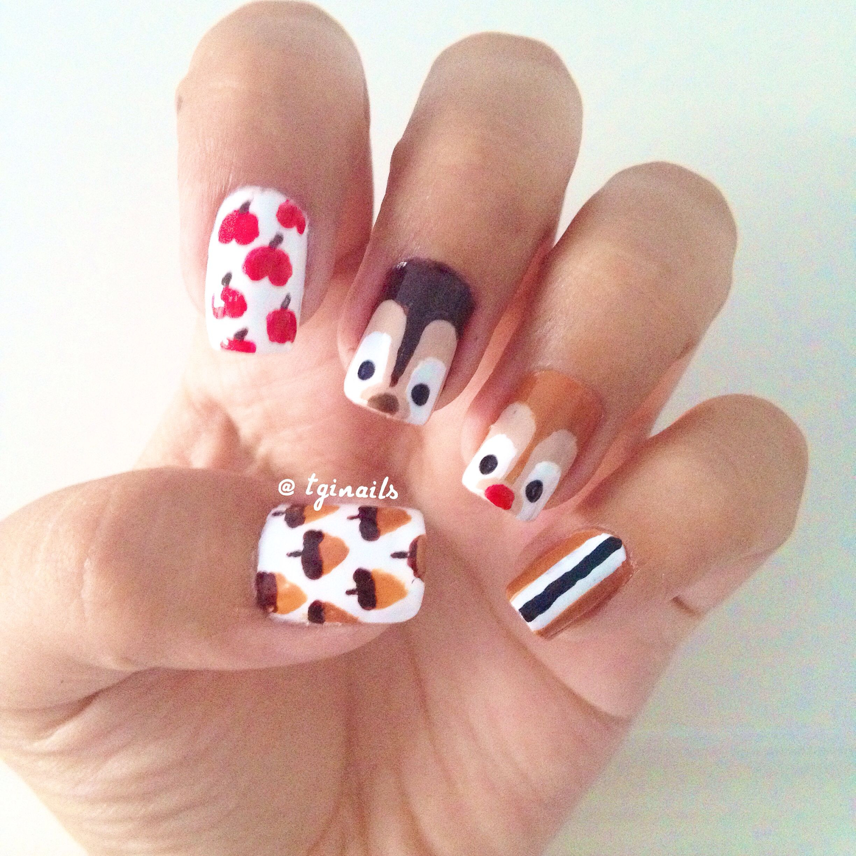 Nageldesign Kinder  Chip and Dale nail art Nails