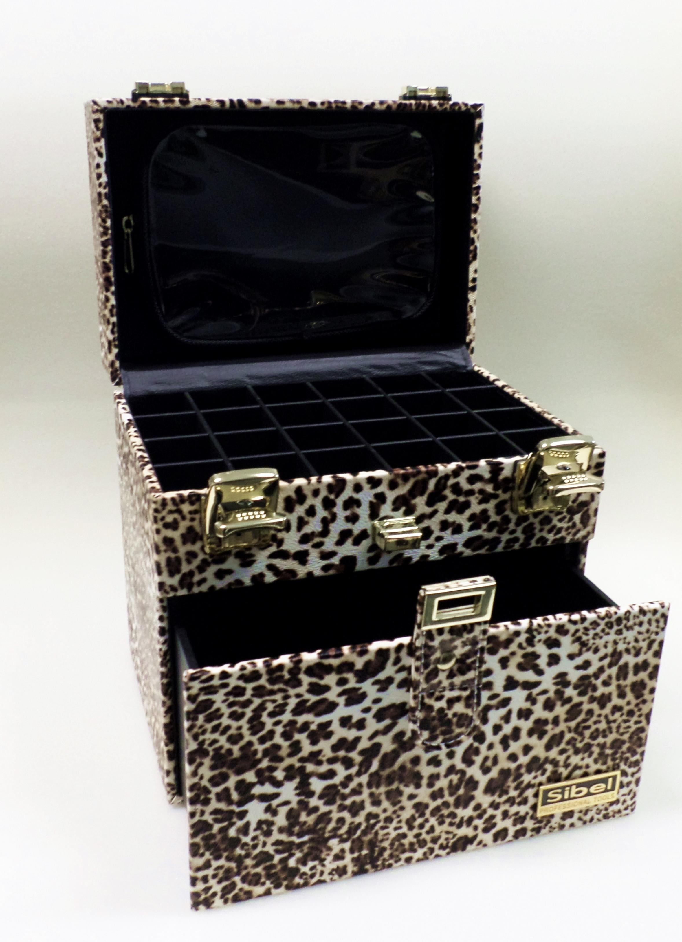 Nageldesign Koffer  SIBEL Nagelstudio Nageldesign Koffer LEOPARD Kosmetikkoffer