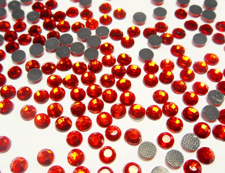 Nageldesign Kurs Kosten  HOTFIX STRASSSTEINE ROT FEUERROT 6mm GLAS STRASS AAA