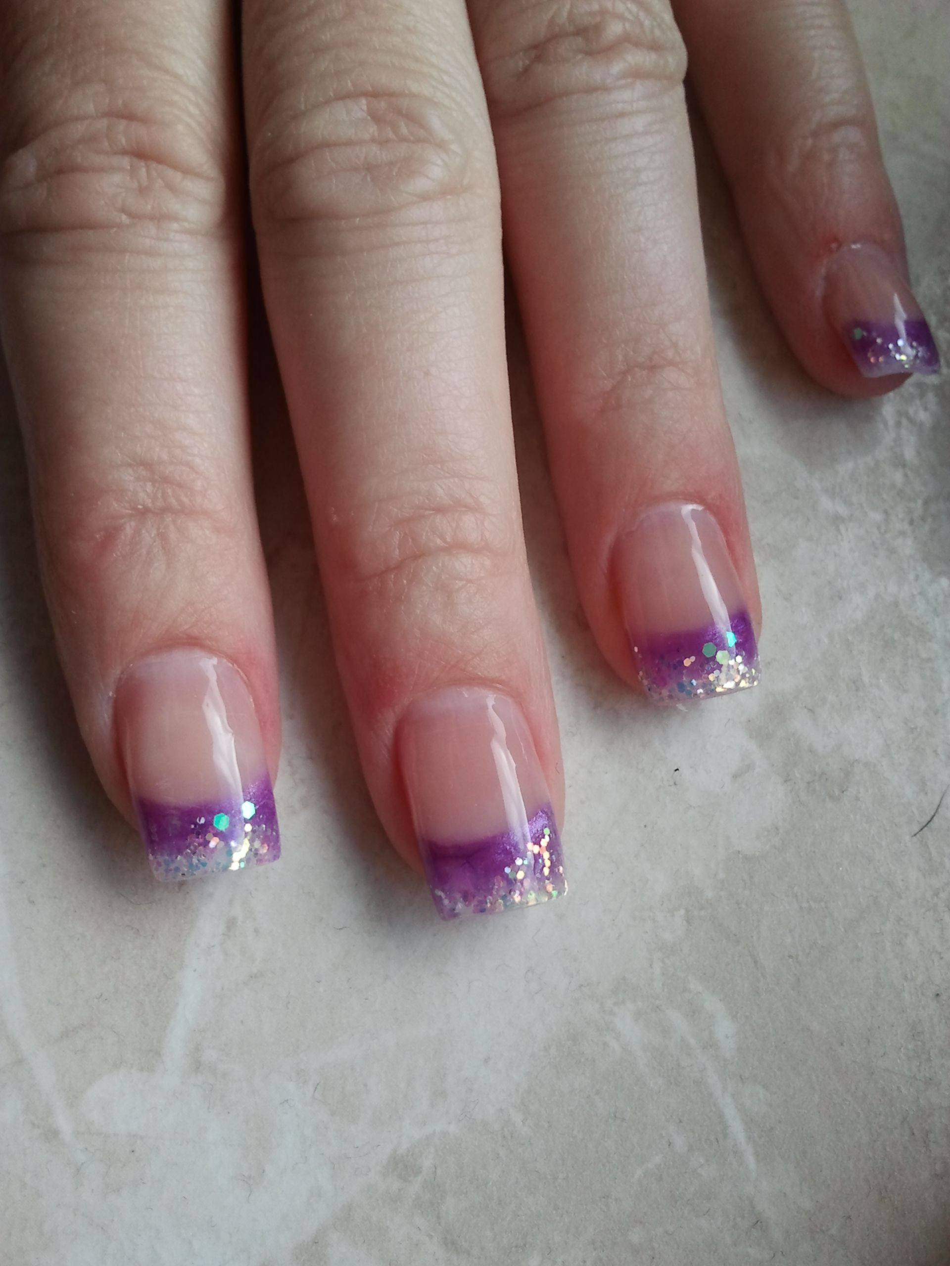 Nageldesign Lila  lila Gelnails Nageldesign