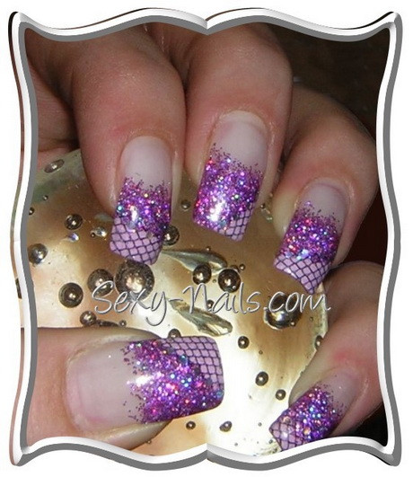 Nageldesign Lila  Nageldesign lila silber