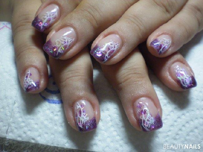 Nageldesign Lila  lila Nageldesign