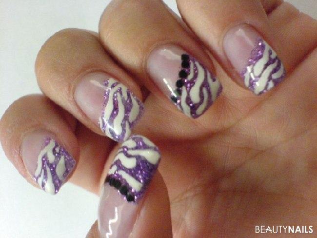 Nageldesign Lila Glitter  Wild Wild Lilac Nageldesign
