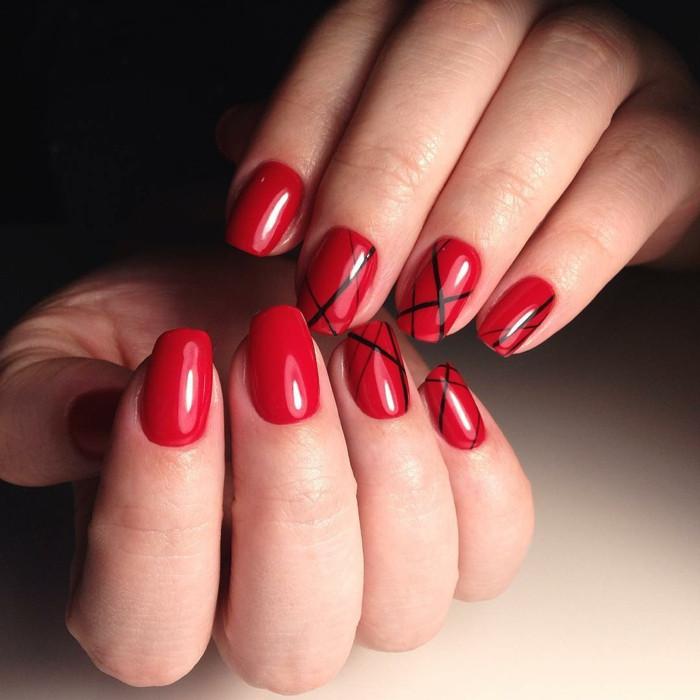 Nageldesign Modern  Nageldesigns in Rot 73 inspirierende Ideen für Ihr