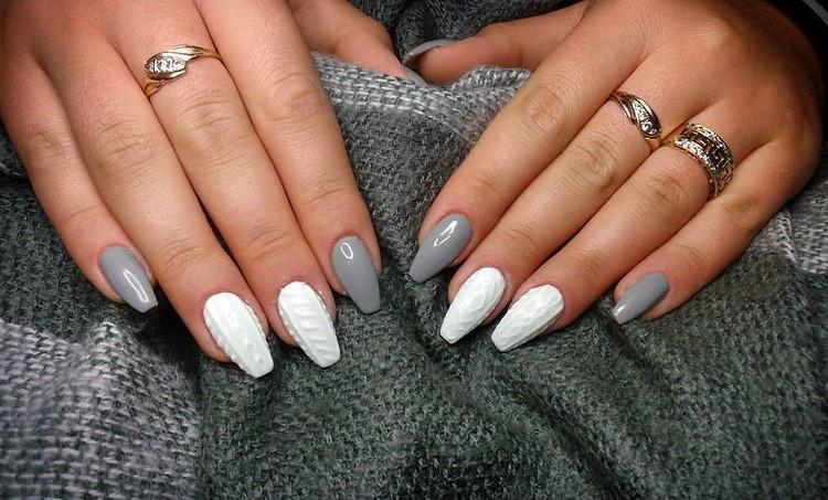 Nageldesign Nagellack  Nageldesign für den Winter Knit Nails als aktueller