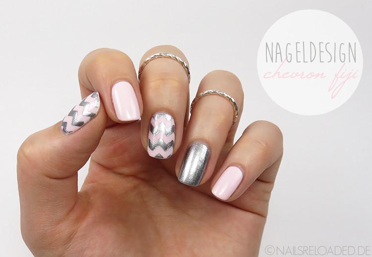Nageldesign Nagellack  [Nageldesign] chevron fiji nails reloaded by naileni