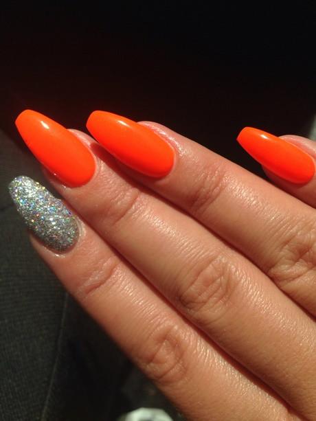 Nageldesign Neon  Nageldesign neon orange