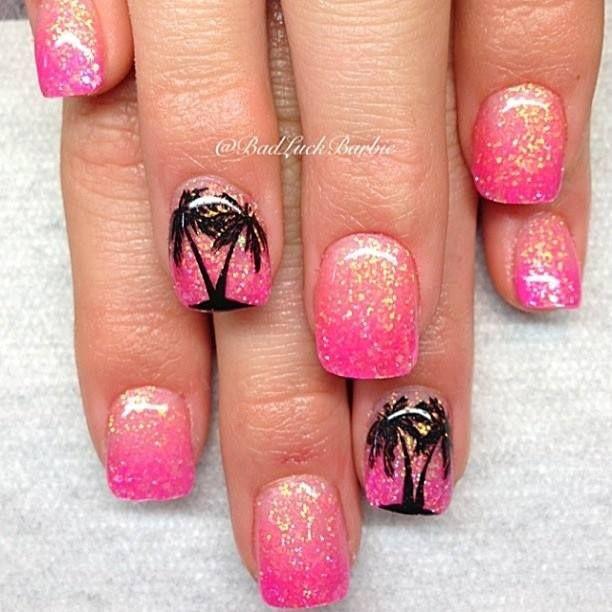 Nageldesign Palmen  Die besten 25 Palmen nägel Ideen auf Pinterest