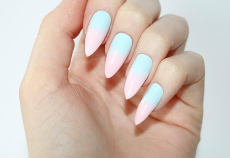 Nageldesign Pastellfarben  Stiletto Nails 30 tolle Ideen für extravagante und