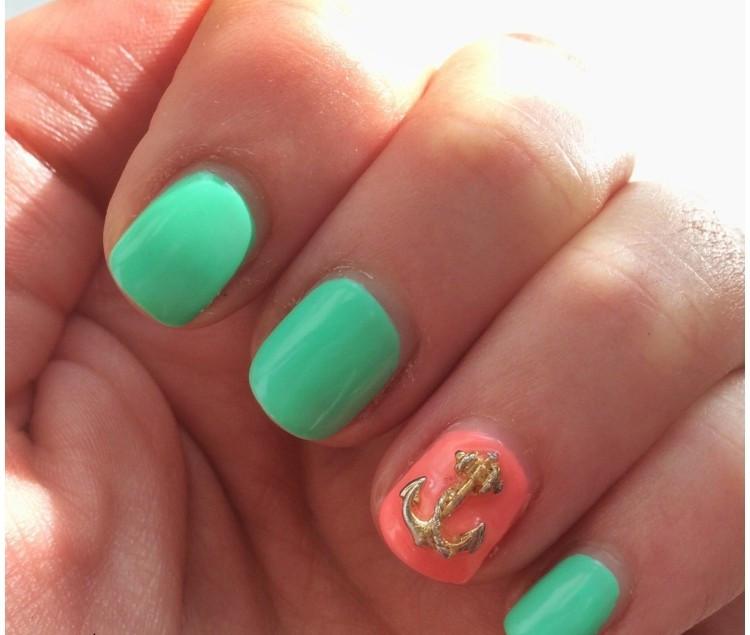 Nageldesign Pastellfarben  Sommer Nageldesign 60 Ideen für einen sommerlichen Look