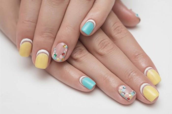 Nageldesign Pastellfarben  Nageldesign Sommer 77 frische Fingernägel Ideen für