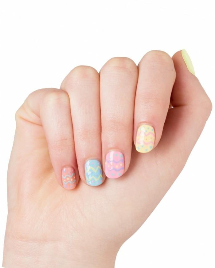 Nageldesign Pastellfarben  Nageldesign Ostern 50 ausgefallene Ideen wie Sie Ostern