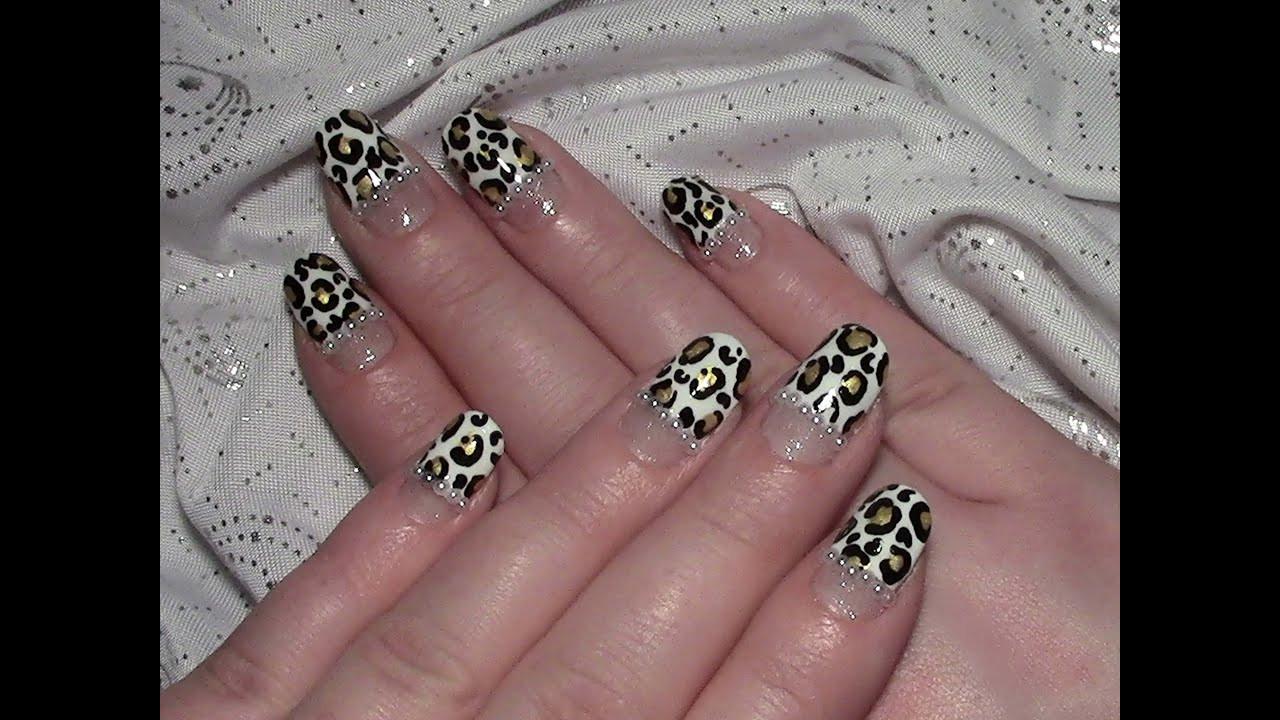 Nageldesign Selber Machen Anfänger  Leoparden Nageldesign für kurze Nägel selber machen