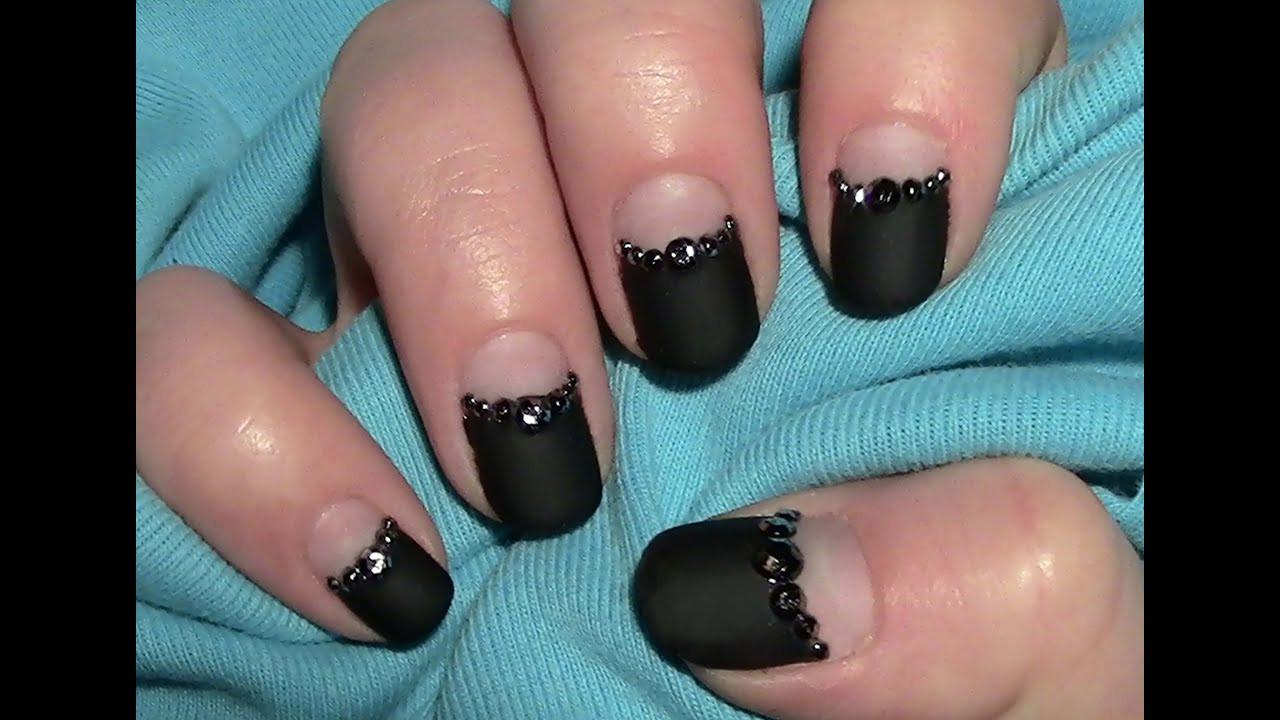Nageldesign Selber Machen Kurze Nägel  Schwarz Matt Nageldesign für kurze Nägel zum selber machen