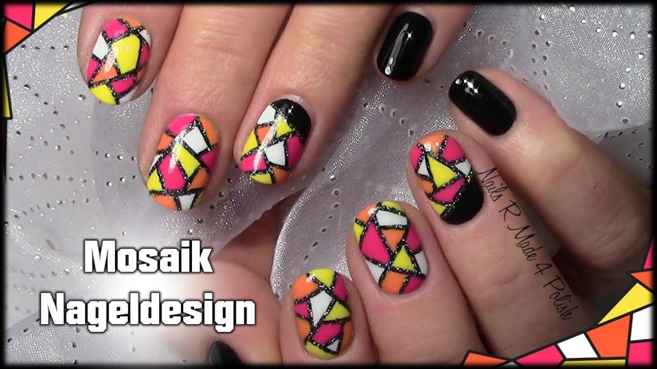 Nageldesign Selber Machen Kurze Nägel  Mosaik Nageldesign einfach selber machen kurze Nägel