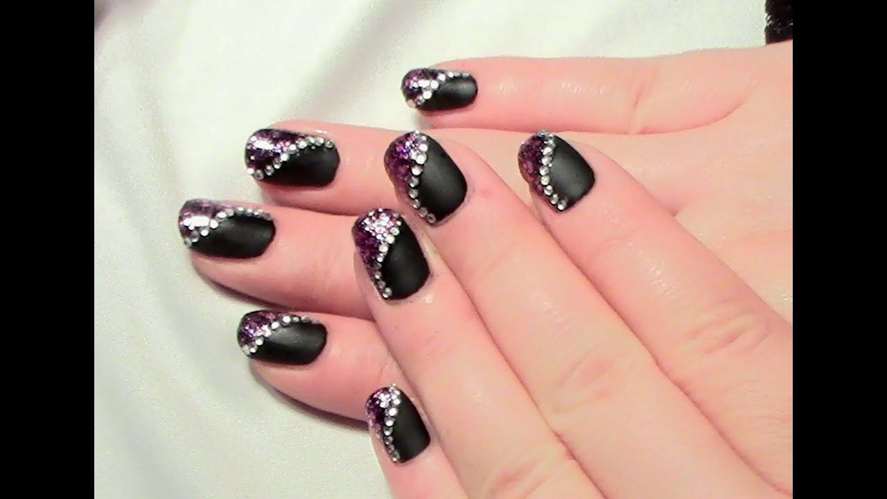 Nageldesign Selber Machen Kurze Nägel  Matt & Glitter Nageldesign für kurze Nägel zum selber