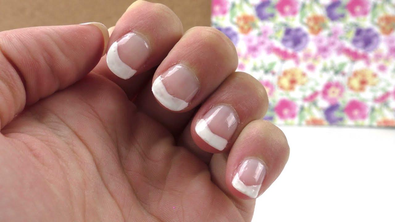 Nageldesign Selbst Gemacht  Nageldesign Frenchnails selber machen DIY Nails ganz