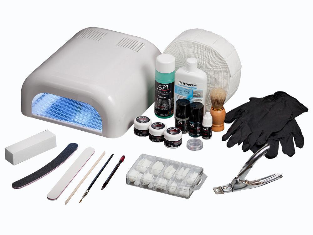 Nageldesign Set Für Anfänger  Gelnägel Set Nagelstudioset UV Gel Nagel Nageldesign