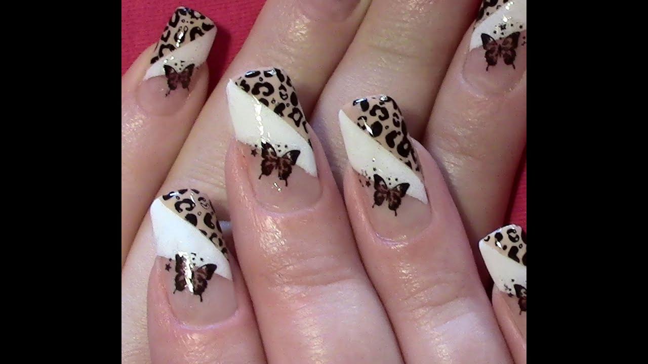 Nageldesign Sommer Selber Machen  Leo Schmetterling Nageldesign selber machen Nail Art