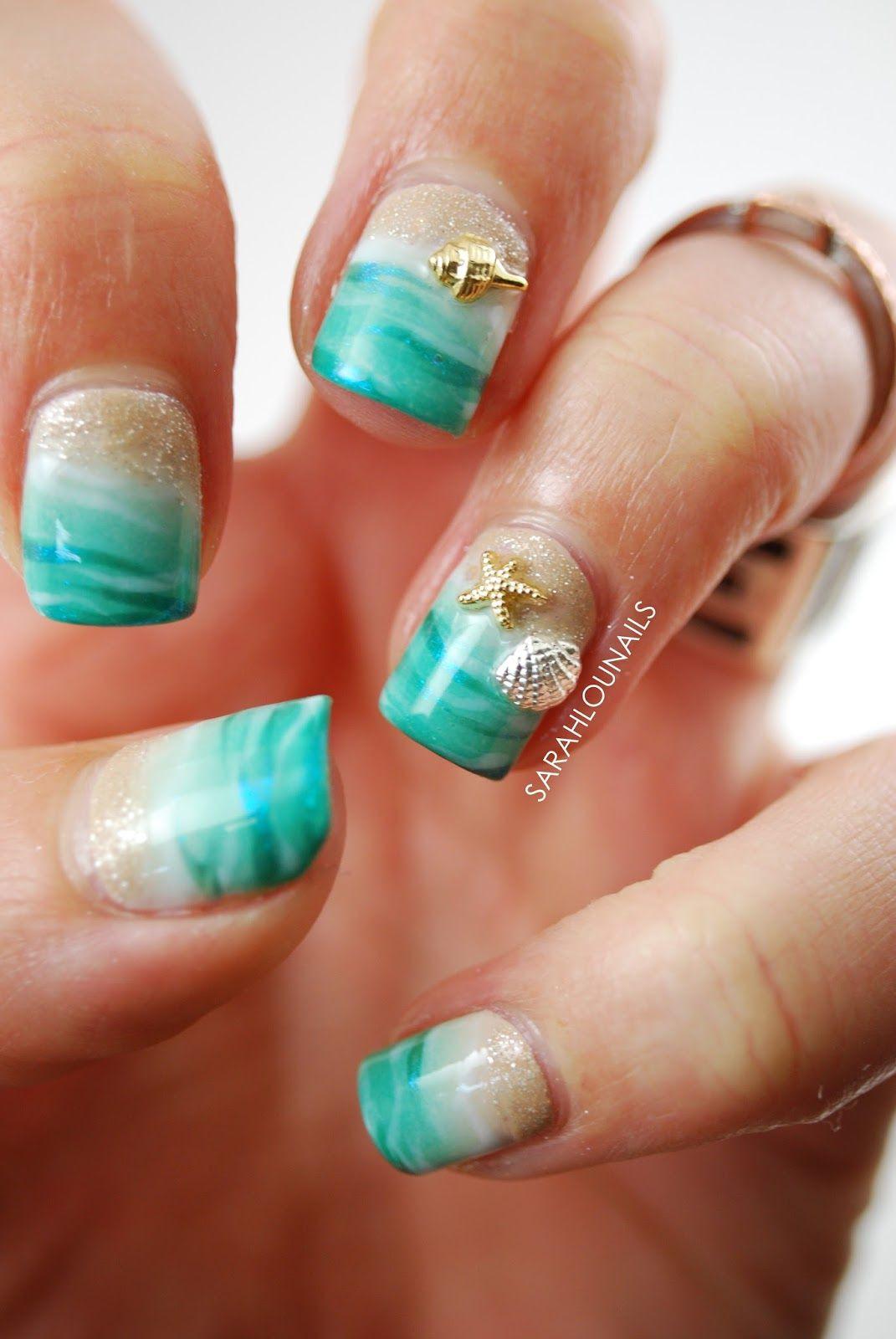 Nageldesign Strand  Sarah Lou Nails Beach nail nails nailart
