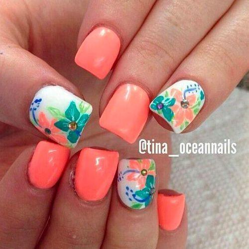Nageldesign Strand  80 Wunderschöne farbenfrohe Nageldesign Ideen für