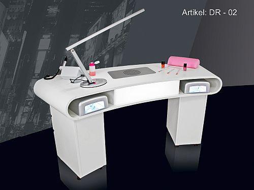 Nageldesign Tisch Mit Absaugung  Designer Nagel Tisch DR 02 mit Absaugung Beleuchtung auf