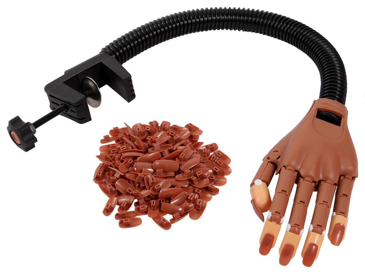 Nageldesign Übungshand  ALSINO Trainingshand Übungshand flexibler beweglicher Arm
