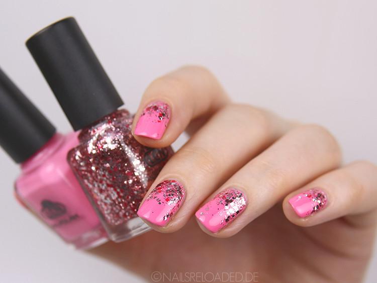 Nageldesign Verlauf  nails reloaded nailsreloaded challenge glitter