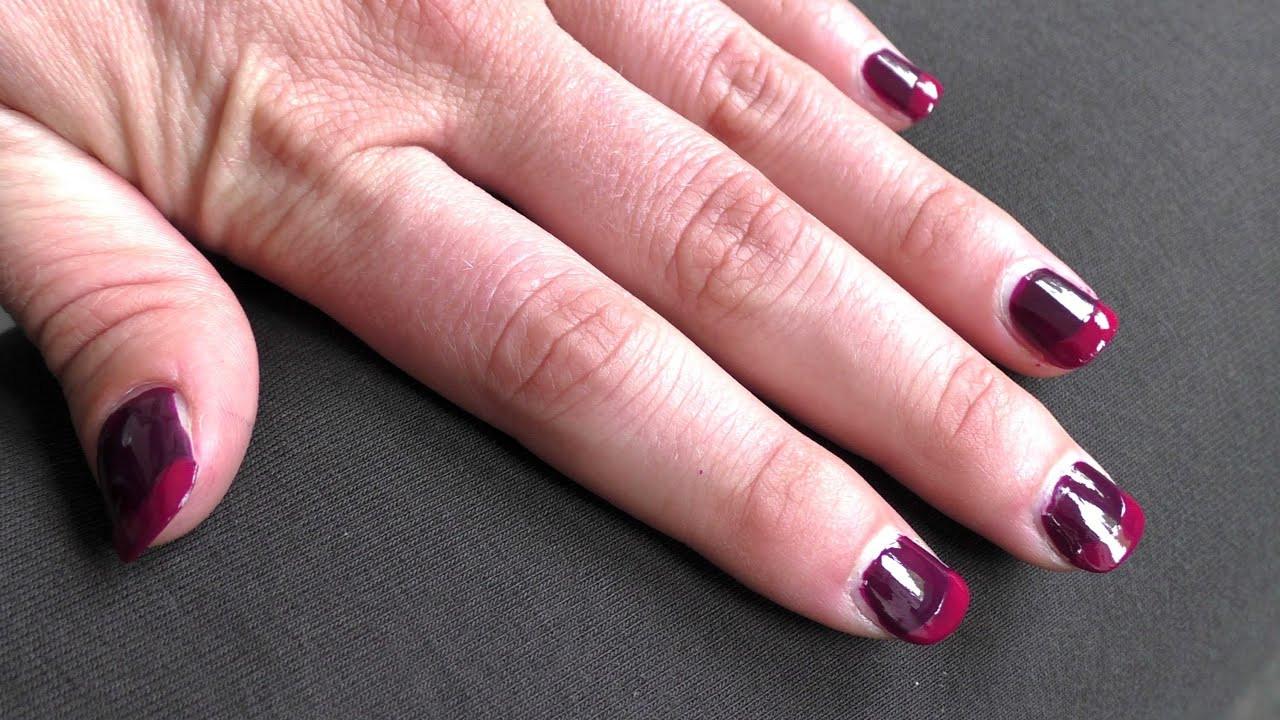 Nageldesign Verlaufende Farben  French Nails selber machen ohne Gel Nageldesign French