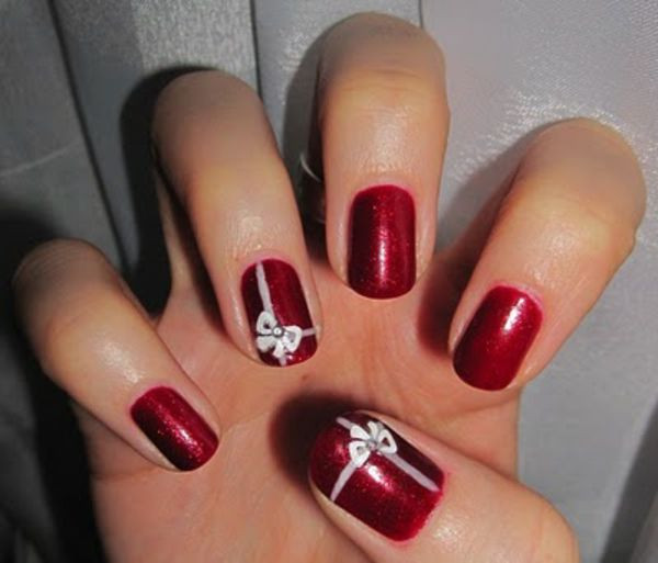 Nageldesign Weihnachten Muster  Nageldesign Muster wie Sie Fingernägel Designs selber machen
