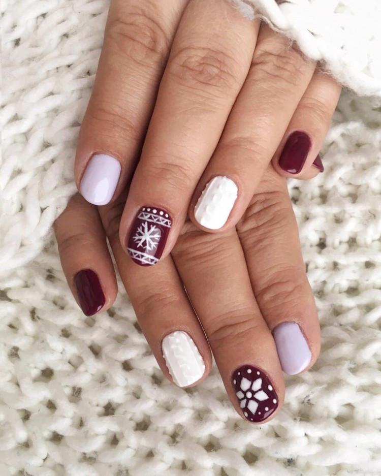 Nageldesign Weihnachten Muster  Nageldesign für den Winter Knit Nails als aktueller