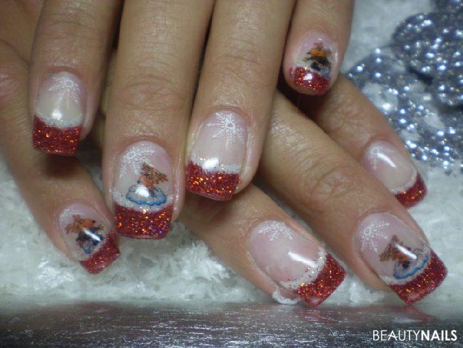 Nageldesign Weihnachten Muster  Winternägel & Weihnachtsnägel 50 Nageldesign Bilder