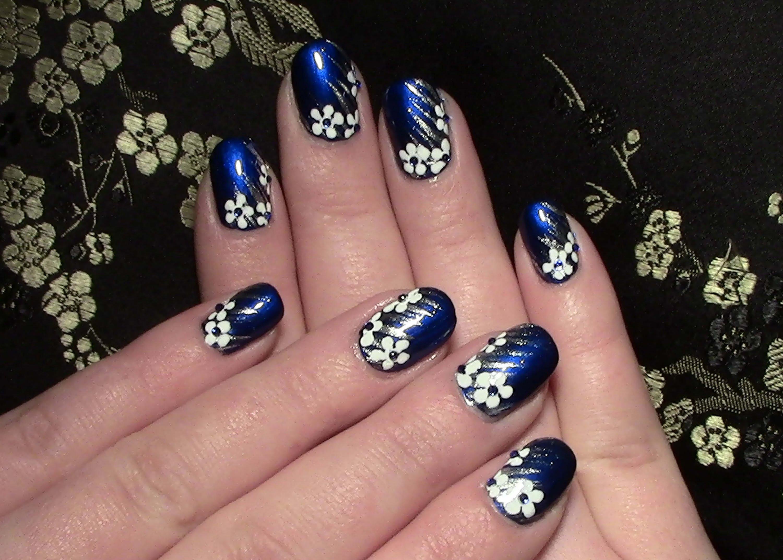 Nageldesign Zum Selber Machen Mit Nagellack  Nail Art Designs Nageldesign Eisblumen für kurze Nägel