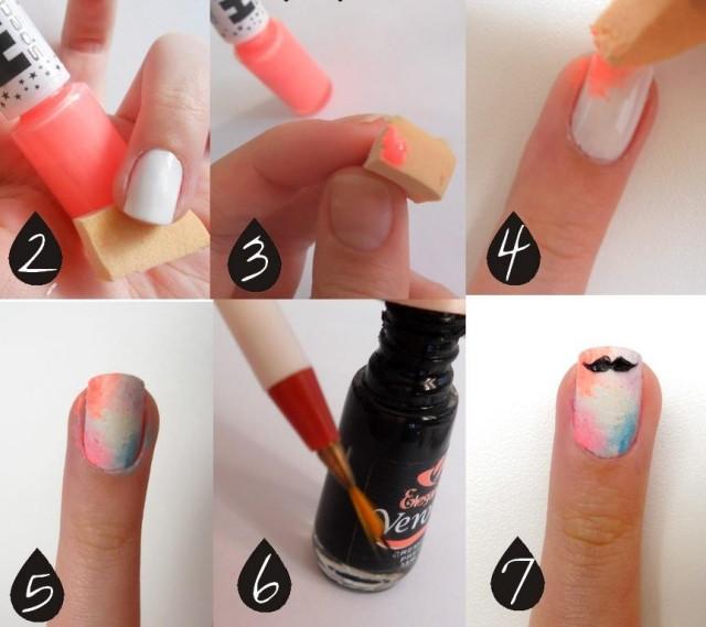 Nageldesign Zum Selber Machen Mit Nagellack  32 Nagelmotive zum Selbermachen mit Nagellack Anleitung