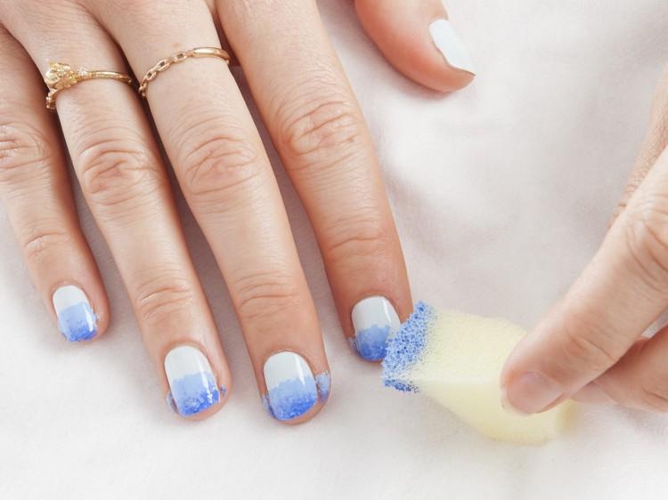 Nageldesign Zum Selber Machen Mit Nagellack  Ombre Nails selber machen Anleitung und hübsche