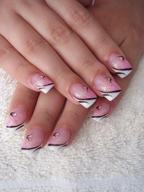 Natürliche Maniküre  French nails