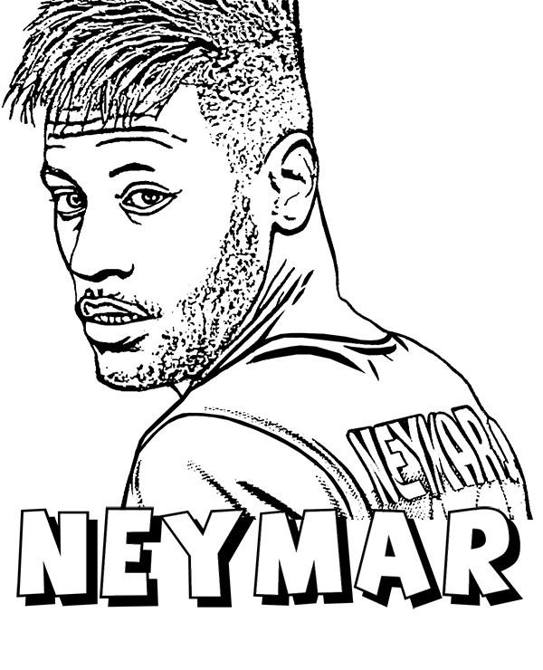 Neymar Ausmalbilder  Neymar Jr Coloring Pages Sketch Coloring Page