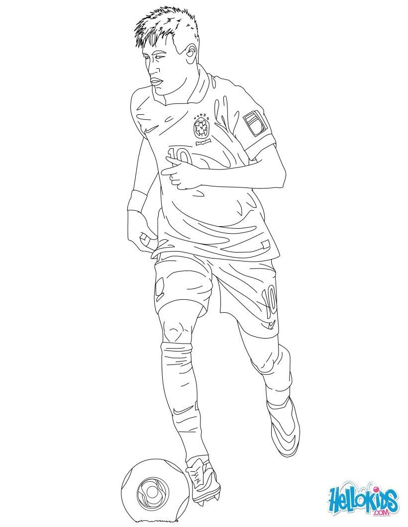 Neymar Ausmalbilder  Neymar zum ausmalen de hellokids