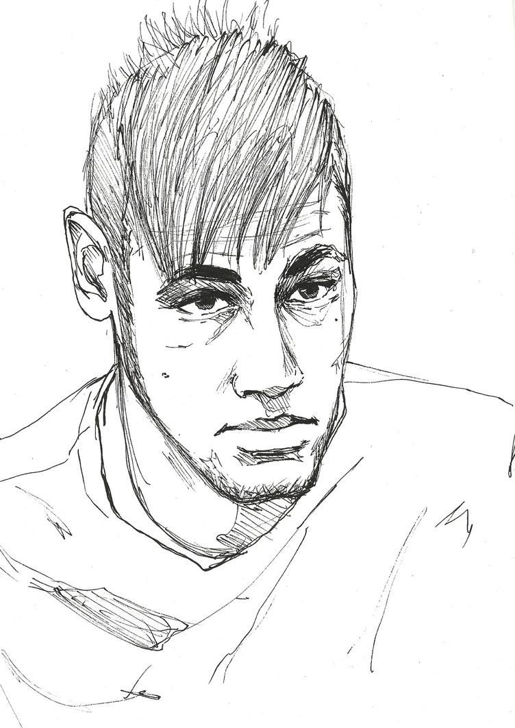 Neymar Ausmalbilder  Neymar Jr Free Coloring Pages