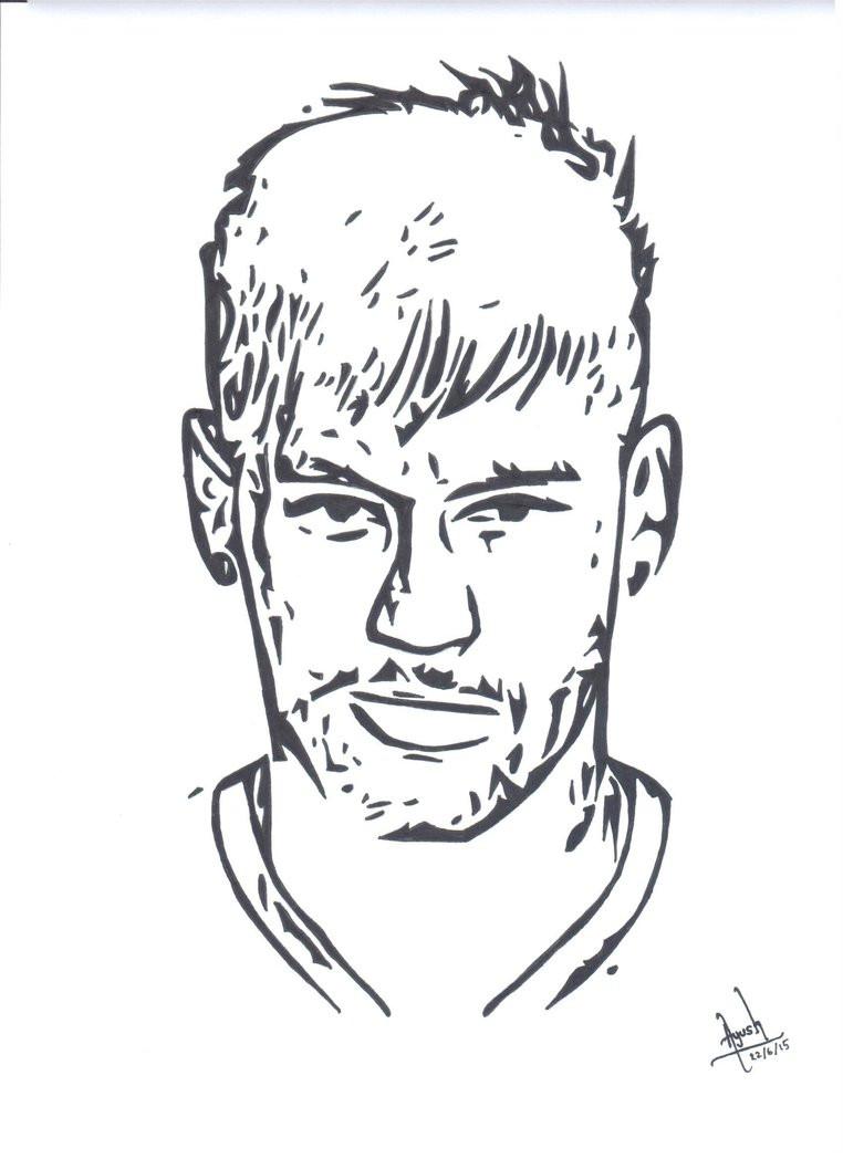 Neymar Ausmalbilder  Neymar Jr Inking by RandomDude TheWeb on DeviantArt