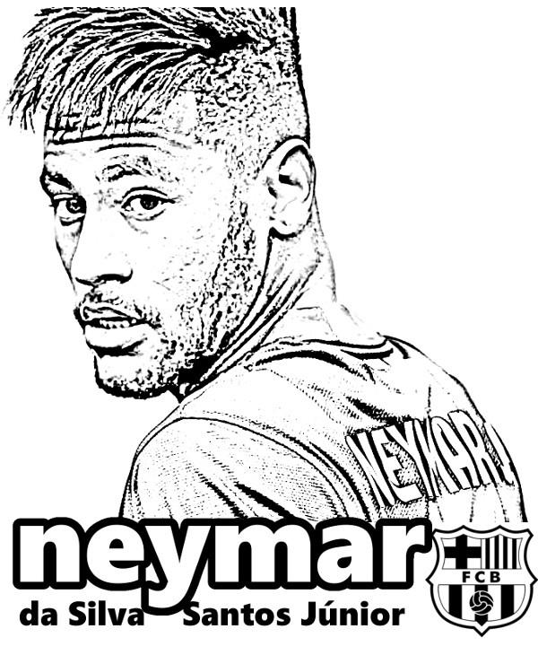 Neymar Ausmalbilder  Neymar FC Barcelona kolorowanka do druku malowanka kolorowanki