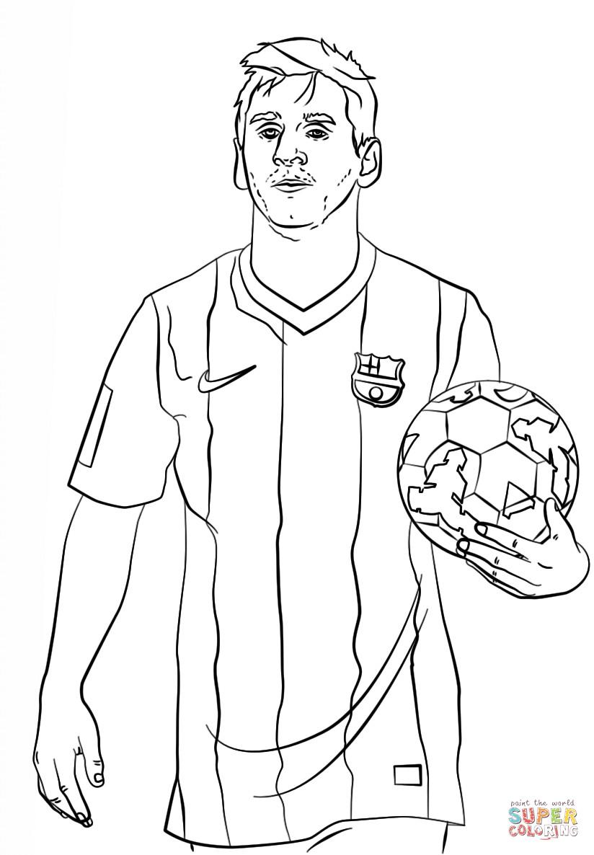 Neymar Ausmalbilder  ausmalbilder fußballspieler messi 1161 Malvorlage Fußball