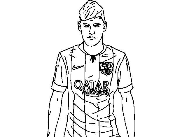 Neymar Ausmalbilder  Desenho de Neymar Jr para Colorir Colorir
